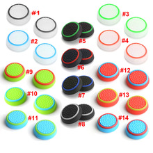 Two-color Thumb Grips Silicone Analog Stick Covers Thumbstick Controller Joystick Cap for PS4 PS3 PS2 Xbox One Xbox 360 <strong>Wii</strong> U