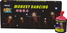 Dancing monkey cake fountain fireworks factory