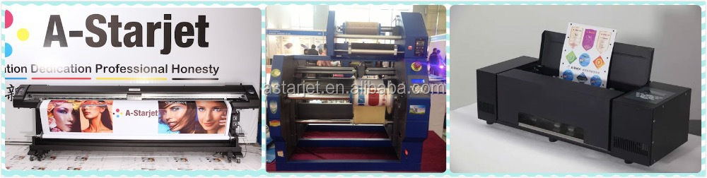 A-Starjet 7702L / 7703L Sublimation, Flag Banner Printer with Two / Three DX7 Head