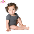 2018 wholesale spring baby clothes baby short sleeve romper dark gray baby cotton romper