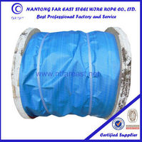 Non rotating steel wire rope 19x7, galvanized steel cable
