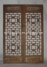 Chinese antique hand carved wood screen
