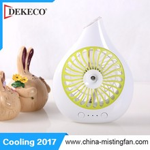 Handle mist fan portable with battery rechargeable