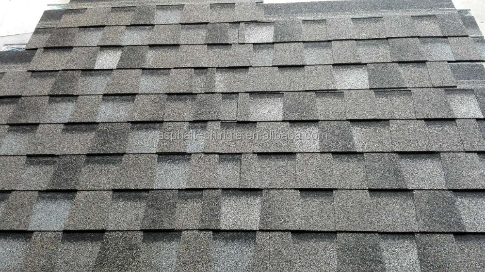Export Grey Adhesive Laminated Shingles , Double Layer Asphalt Tile Price