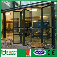 Thermal break profile aluminium folding doors and windows with grill design for Australian standard AS2047 AS2208 PNOC0021BFD