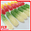 custom mixed fruit flavour gummy worms candy