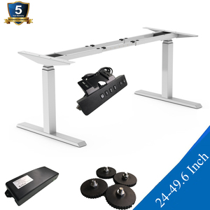 SHB320-D650-216-B Home Office Sit-Stand Adjustable Desk With Height Rang From 24 to 49.6 inches