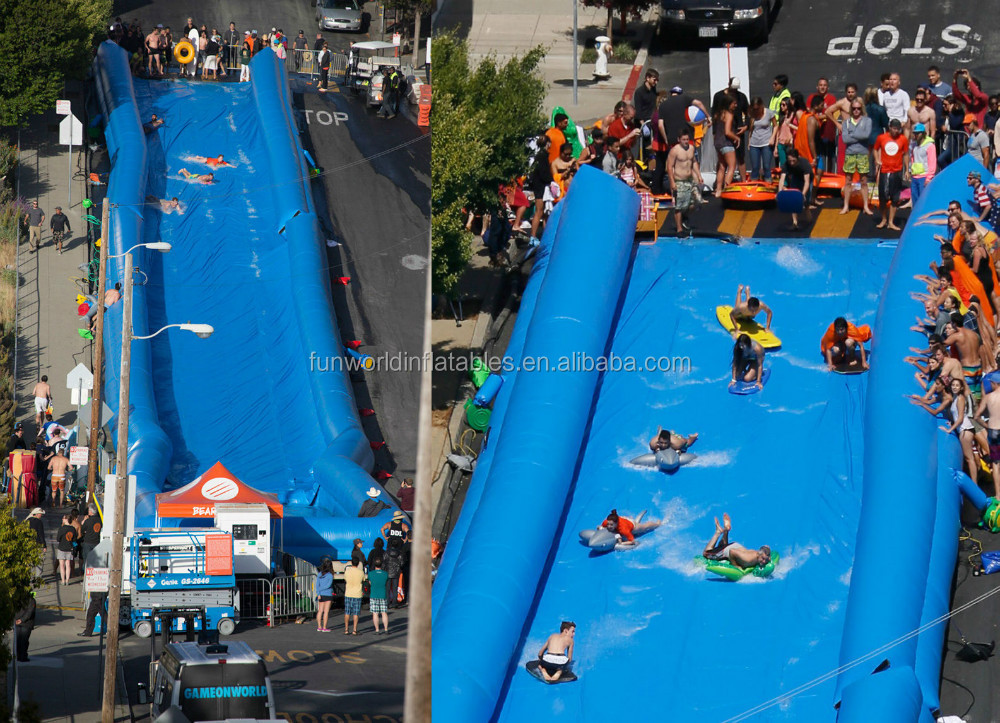 World Famous Slide in the City , Inflatable Water Slide / Inflatable Slip n Slide