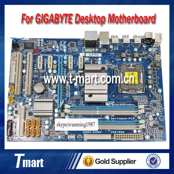 High quality Desktop Motherboard For Gigabyte GA-EP45T-UD3LR EP45T- UD3LR RAM 16 G DDR3 LGA775 Mother board