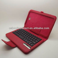 Super slim Removable wireless Bluetooth 3.0 ABS Keyboard +Case Cover For Samsung Galaxy Note 8.0 N5100 RED Li-battery