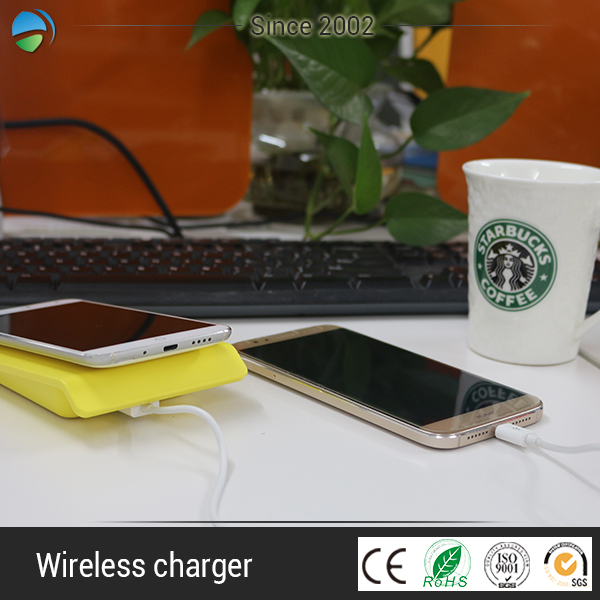 DC 5V 2A solar phone qi wireless charger for mobile phone mp3