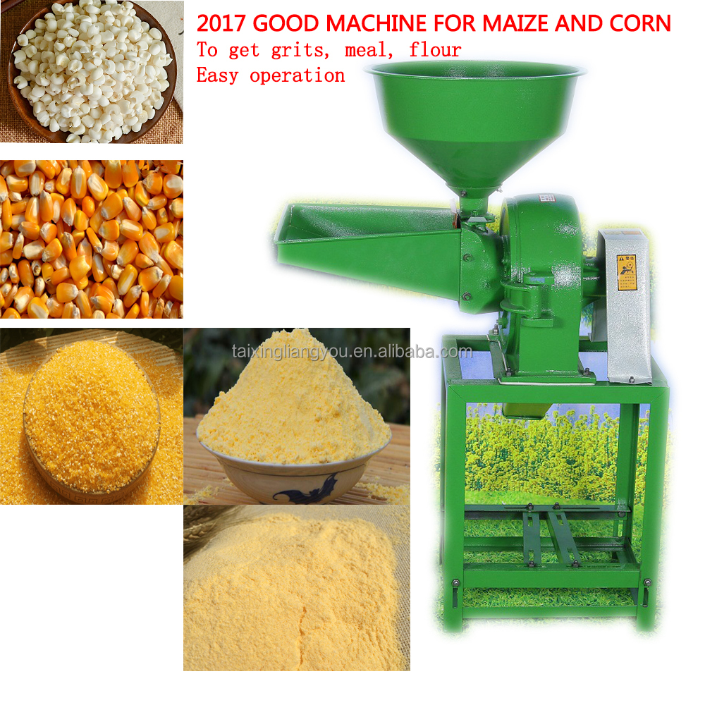 Multifunctional small scale grain wheat rice maize corn bean milling grinding crushing home uses mini wheat flour mill machine