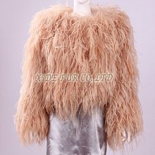 lovely leady's ostrich feather jacket 2012-2013 newest fashion