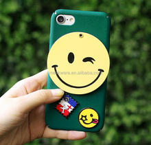 Emoji hard plastic mirror phone case for iphone 6 7 cover wholesale