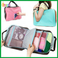 Encai Manufacture New Design Ndigo Travel Tote Bag/Multifunction Handbag Organizer/Tower Logo Shoulder Bag