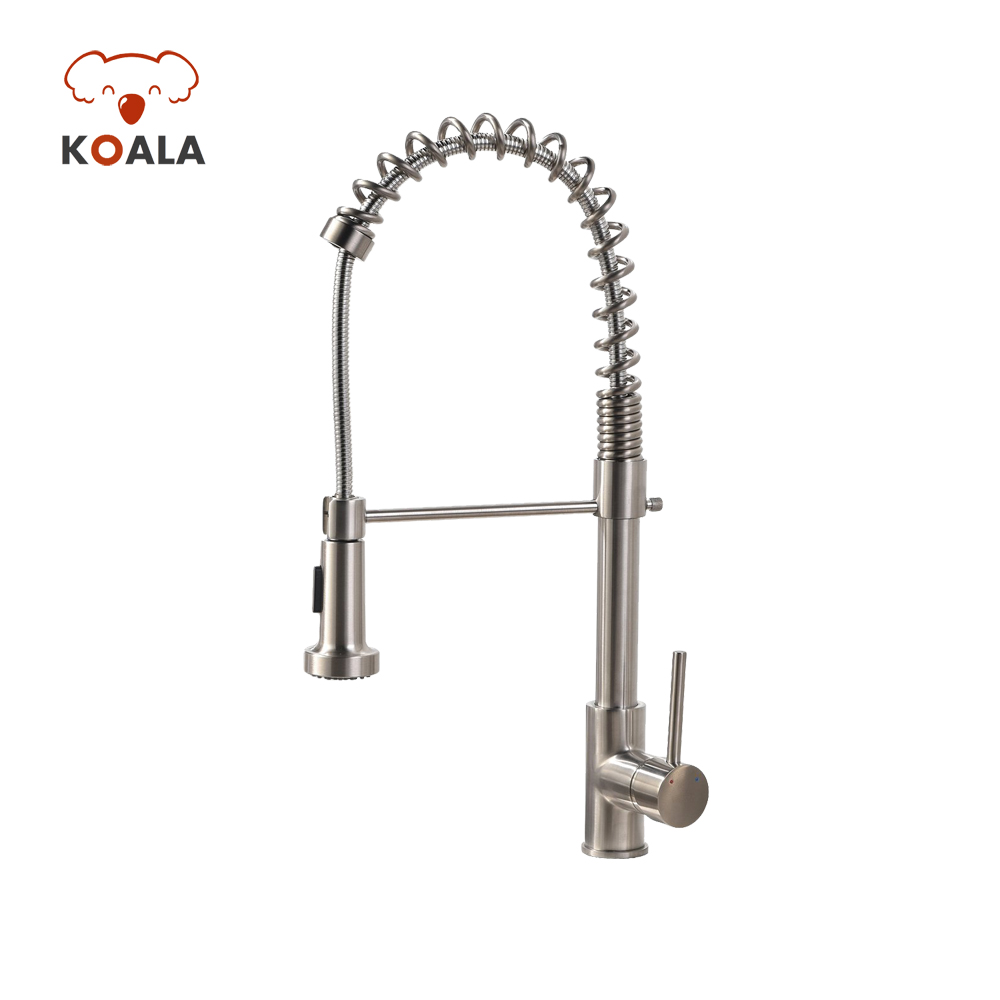 Unique Best Commercial Upc Nsf Doe Approved Water Filter Spring Pull Down  Kitchen Faucet   Buy Commercial Single Handle Pull Down Chrome Gold Hot And  ...