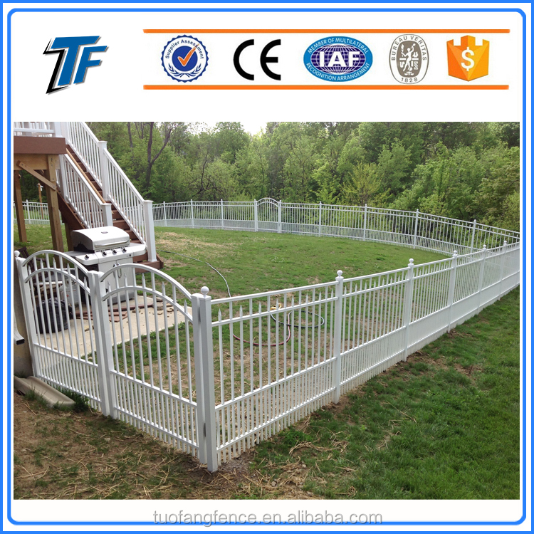 FLAT TOP PICKET BOTTOM Dog Proof Wrought Iron Fence Window Guard Palisade Fence