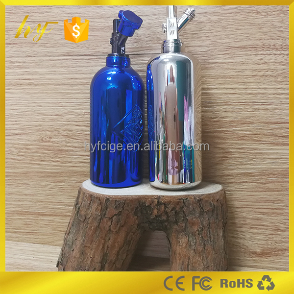 new arrival product electroplate surface PP e liquid nos bottle with unique design sealing type