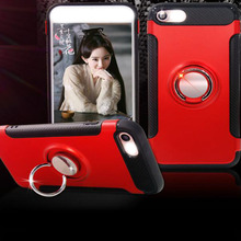 Chinese Red Fingertip Ring Holder Case Hard PC Back Sculpture Case Cover For I8 S8
