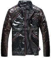 Hot Sell Brand Name Men Shiny Outdoor Motorcycle Winter Cotton Jacket