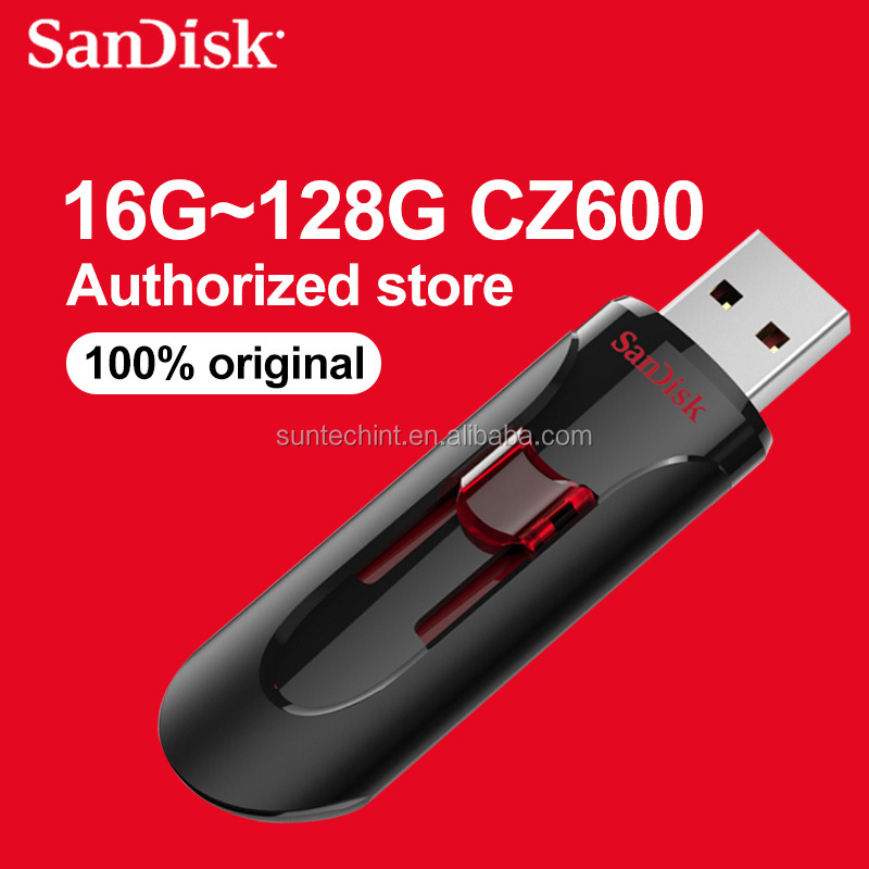 wholesale Retailing Sandisk USB CZ600 64G memory card card USB pen drive pendrive sandisk flash drive 16G 32G 128G