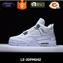 OEM brand Pure Money color sport shoe white basketball shoe soft genuine upper air sole men basketball shoes