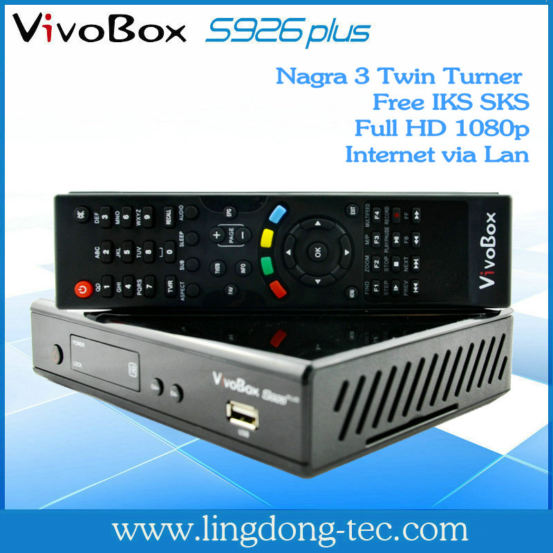 2013 best fta receiver VivoBox S926 plus with iks sks free for Latin America