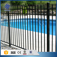 Direct factory supply high qaulity price of flat top iron steel swimming pool fence