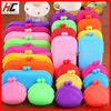 Cheap Promotional Items Of Fashion Candy Color Silicone Coin Purses Cute Mobile Phone Bag /Coin Wallets/Coin Purse For Women