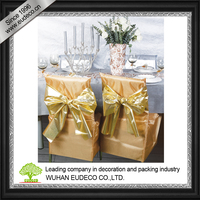 Satin luxury Chair cover for party decoration,even decoration