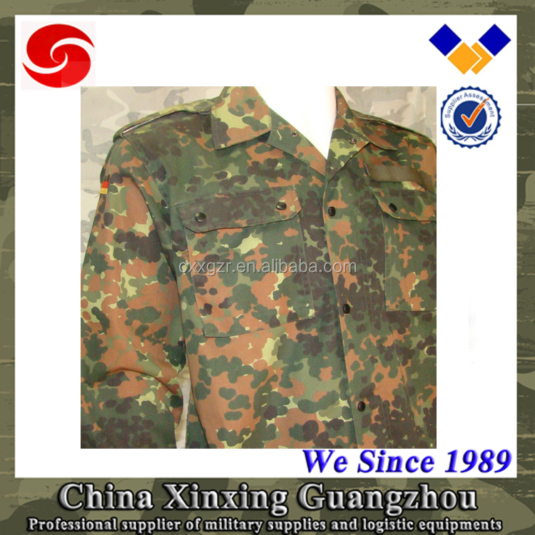 High quality german camouflage army/military dress uniform for sale in high colorfastness