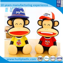 coin bank money collection box, OEM making personalised money box, Plastic Cheap PVC Piggy Coin Bank