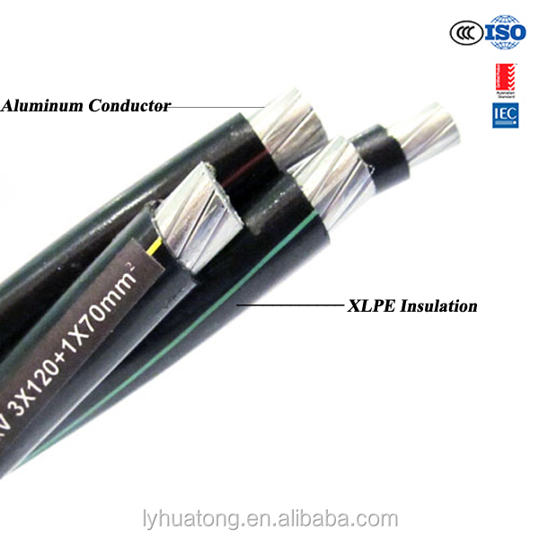LOW VOLTAGE 0.6/1kv ABC CABLE (AERIAL BUNDLED CABLE ),XLPE.PE INSULATION ABC CABLE