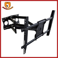 A800 China wholesale tv accesory sliding tilt articulated retractable dual arm wall mount tv holder for 37 - 63 inch led lcd tv