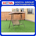 Iron outdoor double haning swing brown chair