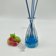 embossed taper glass aroma diffuser bottles with cork for sale /150ml empty delicacy glass vase shaped aroma reed diffuser