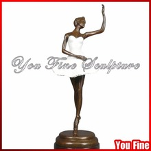 Casting Ballet Dancer Sculpture Bronze Elegant Statue