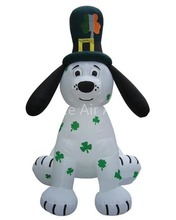 Free shipping 3m H giant cute inflatable St. Patrick's dog decorations for sale