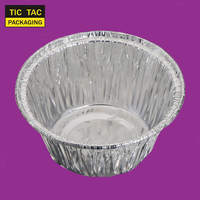 120 ml Round Food Aluminium Foil Container Disposable Food Containers