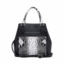 Trendy Style Large Python Print Women Tote Bag