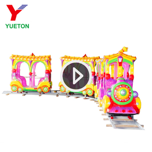 Adults Kiddie Electric Tourist Train Set Factory Amusement For Kids Ride