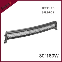 30 inch 180w led light bar 4*4 for offroad car ATV SUV Heavy duty machinery