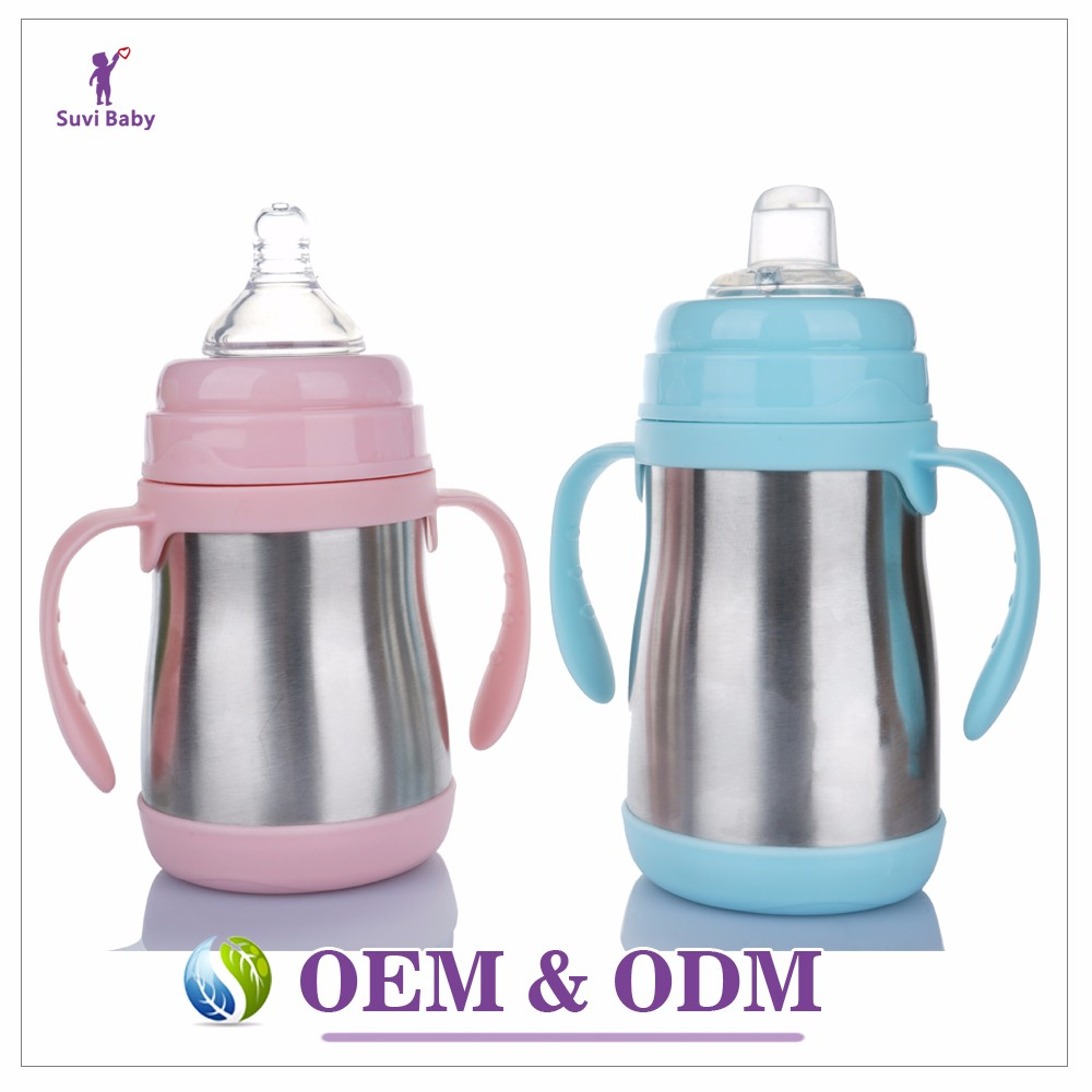 Wholesale Baby Bottle Type fda BPA free stainless steel baby sippy cup