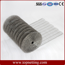 Stainless steel 304 flat flex wire mesh conveyor belt for sale