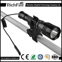 9v battery led torch flashlight hunting flashlight,green led rifle hunting flashlight,red blue hunting flashlight