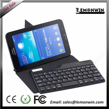 7-10 inch ultra thin universal PU leather Bluetooth keyboard pad case for Ipad/ samsung pad