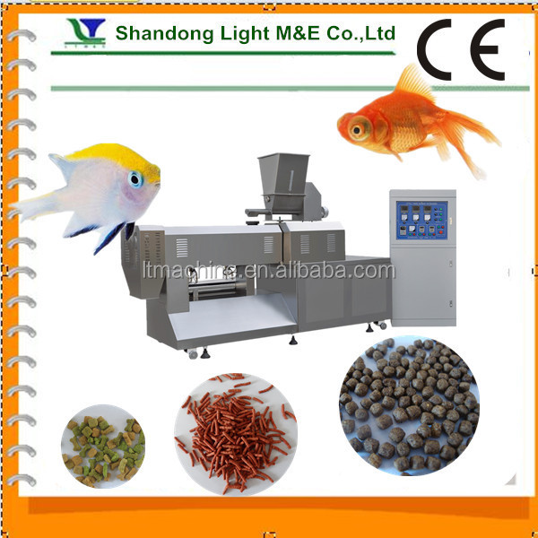 Hot Sale Automatic Bulk Extruded Dry Fish Food Processing Line