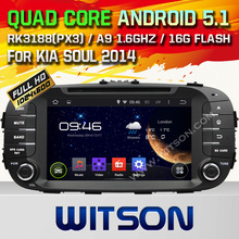 WITSON Android 5.1 CAR DVD For KIA SOUL 2014 WITH CHIPSET 1080P 16G ROM WIFI 3G INTERNET DVR SUPPORT