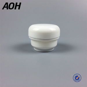 China supplier cylindrical cosmetic 50g double face plastic cream jar container