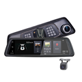 "10"" full touch screen rearview mirror android  4g dual camera car dvr with WIFI Bluetooth ADAD and GPS navigation"